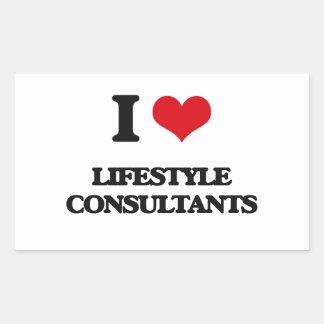 Amo a consultores de la forma de vida rectangular altavoces