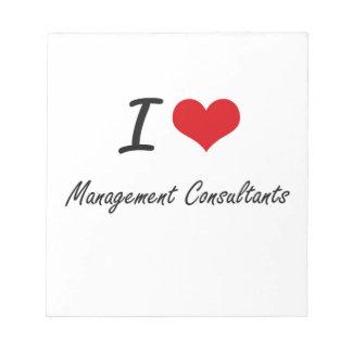 Amo a consultores en administración de empresas libreta para notas