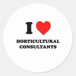 Amo a consultores hortícolas etiqueta redonda