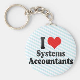 Amo a contables de los sistemas llavero personalizado