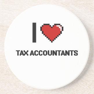 Amo a contables del impuesto posavasos diseño