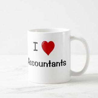 ¡Amo a contables - los contables me aman! Tazas