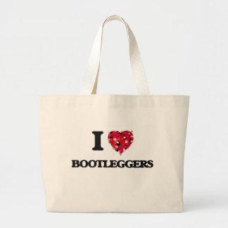 Amo a contrabandistas bolsa tela grande