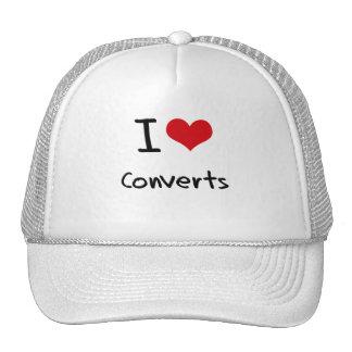 Amo a convertidos gorra