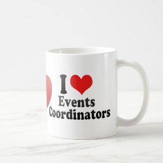 Amo a coordinadores de los acontecimientos tazas de café
