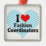 Amo a coordinadores de moda ornaments para arbol de navidad
