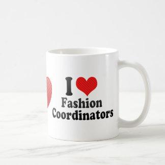 Amo a coordinadores de moda tazas