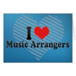 Amo a coordinadores financieros de la música tarjetón