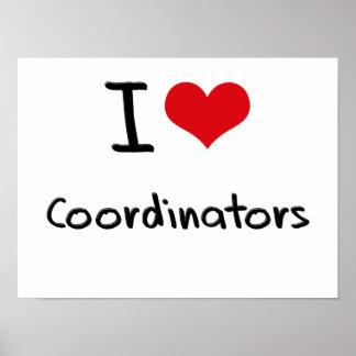Amo a coordinadores impresiones