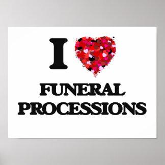 Amo a cortejos fúnebres póster