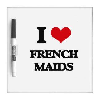 Amo a criadas francesas pizarras blancas