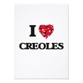 """Amo a criollos invitación 5"""" x 7"""""""