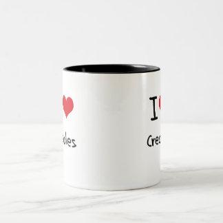 Amo a criollos taza de dos tonos
