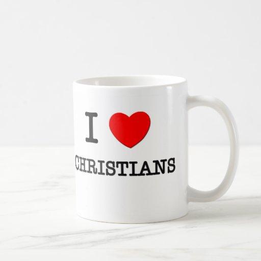 Amo a cristianos tazas