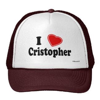 Amo a Cristóbal Gorros Bordados