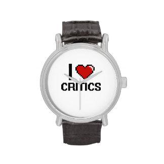 Amo a críticos relojes de mano