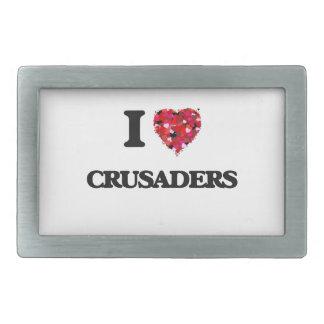 Amo a cruzados hebillas de cinturon rectangulares