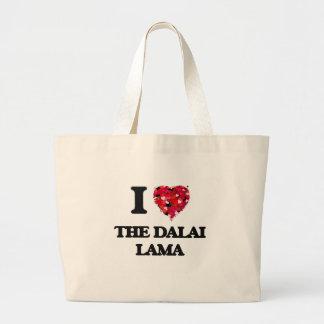 Amo a Dalai Lama Bolsa Tela Grande