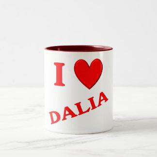 Amo a Dalia Taza De Dos Tonos
