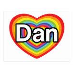 Amo a Dan: corazón del arco iris Postales
