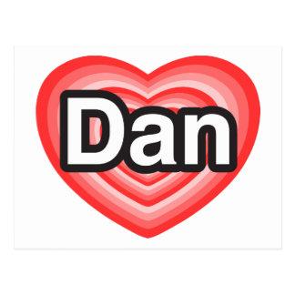 Amo a Dan. Te amo Dan. Corazón Postales