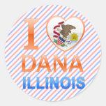 Amo a Dana, IL Etiquetas Redondas