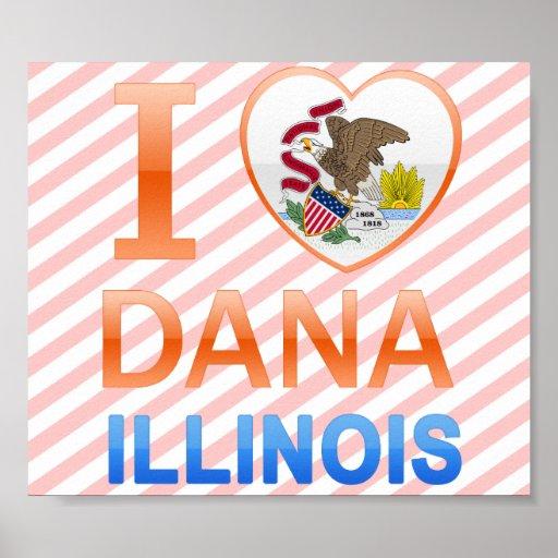 Amo a Dana, IL Impresiones