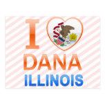Amo a Dana, IL Tarjeta Postal