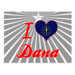 Amo a Dana, Indiana Tarjeta Postal