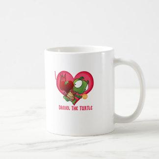 Amo a Daniel la tortuga Tazas De Café