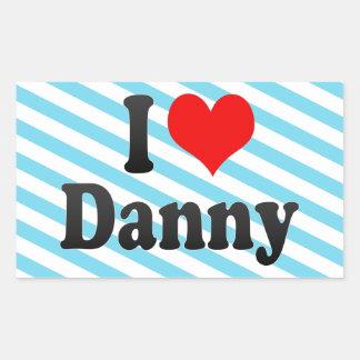 Amo a Danny Pegatina Rectangular