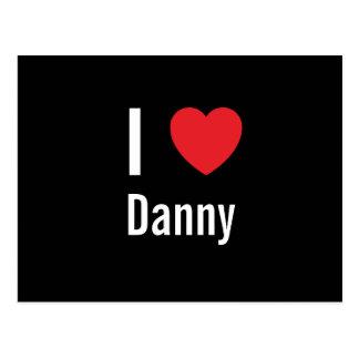 Amo a Danny Tarjeta Postal