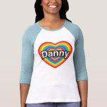 Amo a Danny. Te amo Danny. Corazón Camiseta
