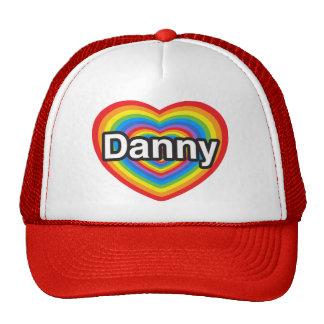 Amo a Danny. Te amo Danny. Corazón Gorras
