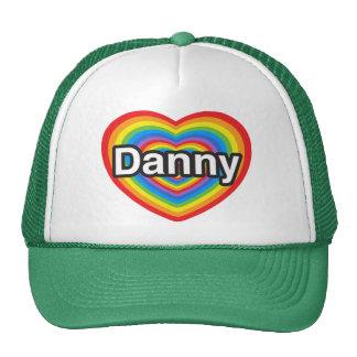Amo a Danny. Te amo Danny. Corazón Gorro