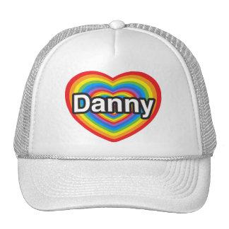 Amo a Danny. Te amo Danny. Corazón Gorros