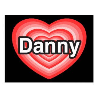 Amo a Danny. Te amo Danny. Corazón Postal