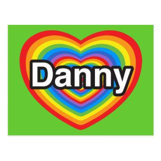 Amo a Danny. Te amo Danny. Corazón Postales