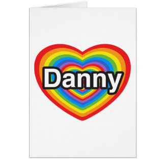 Amo a Danny. Te amo Danny. Corazón Tarjetón