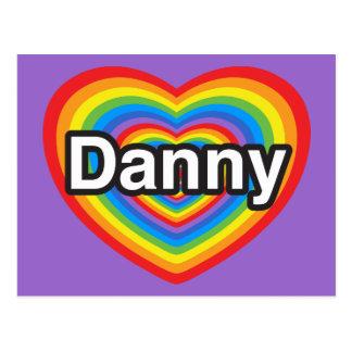 Amo a Danny. Te amo Danny. Corazón Tarjeta Postal
