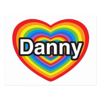 Amo a Danny. Te amo Danny. Corazón Tarjetas Postales