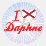 Amo a Daphne, Alabama Pegatina Redonda