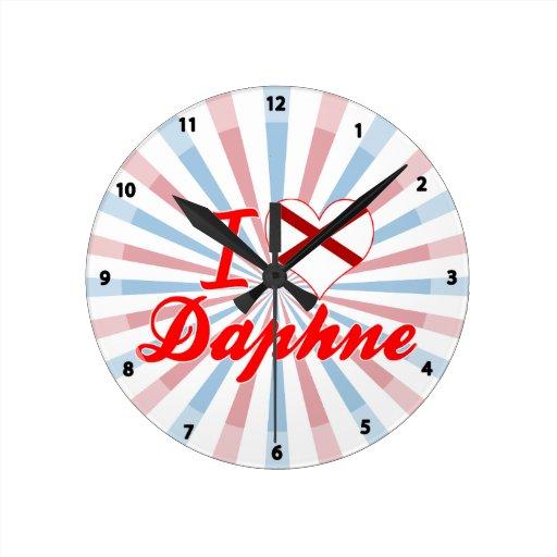 Amo a Daphne, Alabama Relojes De Pared