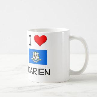 Amo a Darien Connecticut Taza
