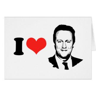 Amo a David Cameron Tarjeta De Felicitación
