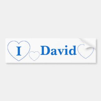 Amo a David (los BPS) Pegatina Para Auto