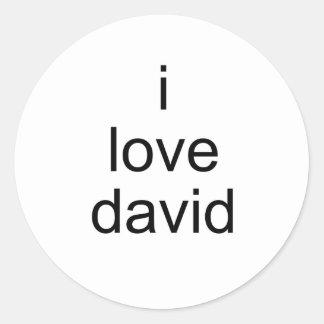 amo a David Etiquetas Redondas