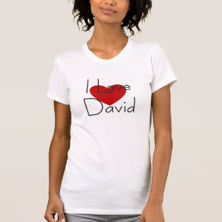 Amo a David Camisetas