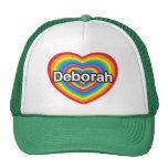 Amo a Deborah. Te amo Deborah. Corazón Gorro