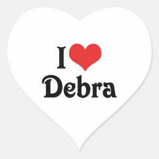 Amo a Debra Pegatina En Forma De Corazón